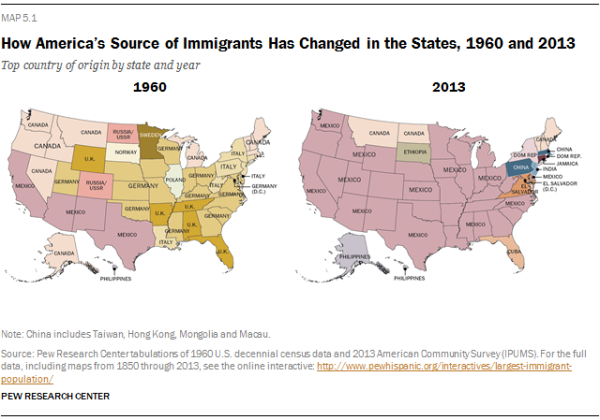 How America's Source of Immigrants Has Changed in the States, 1960 on tourism map, us immigration review, united nations map, human rights map, business map, ireland immigration map, us immigration flyer, technology map, home map, homeland security map, us immigration timeline, property map, police map, european migration map, refugees map, us immigration rates, us immigration statistics, immigration mind map,