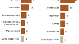 Some U.S. industries and occupations have high shares of unauthorized immigrant workers