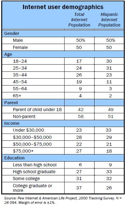 Internet demographics