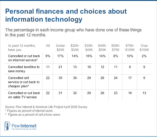 Personal finances and choices about information technology