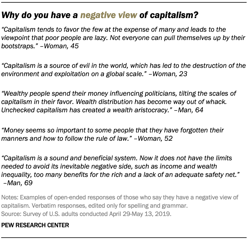 Why do you have a negative view of capitalism?