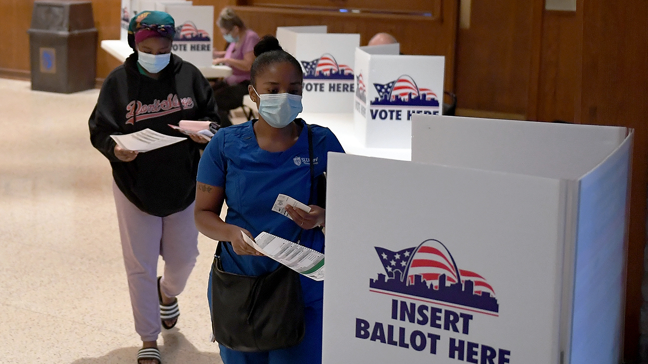 Voters cast their ballots in Missouri's primary election on Aug. 4 in St Louis. (Michael B. Thomas/Getty Images)