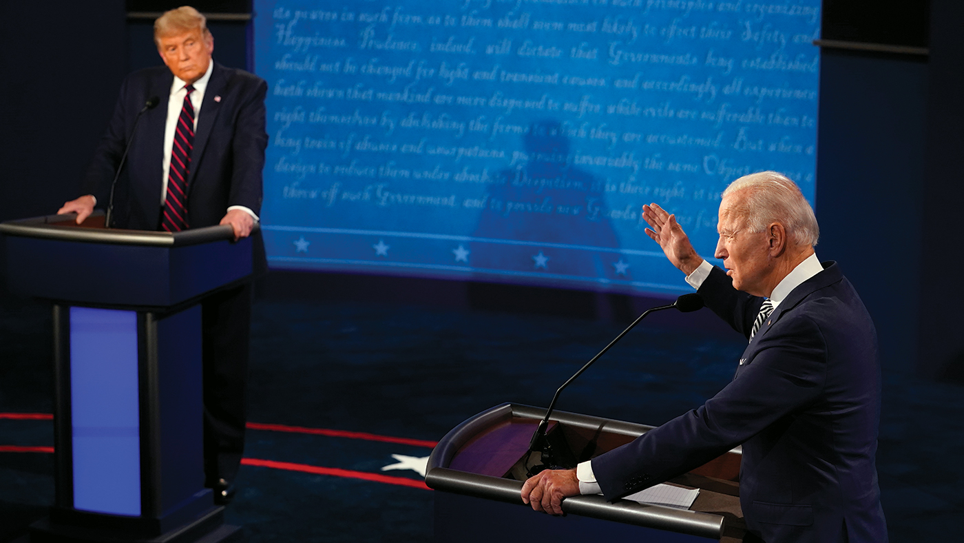Trump and Biden debate in Cleveland on Sept. 29. (Morry Gash-Pool/Getty Images)