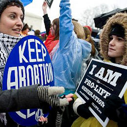 Pro-Life and Pro-Roe vs. Wade Activitsts