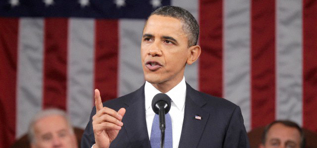 Obama delivers the State of the Union Address in Jan. 2011