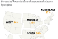 U.S. gun ownership by region
