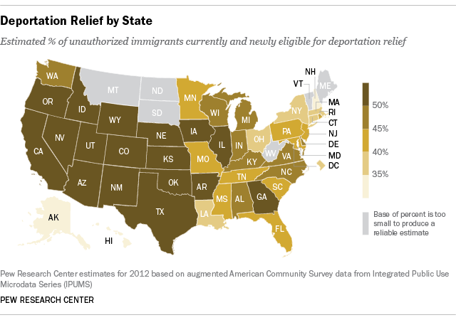 Immigrants By State Map.Immigrants In Western States Most Likely To Benefit From Obama S
