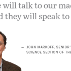 John Markoff on the Internet of Things
