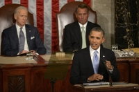 President Obama delivers the State of the Union address in 2014.