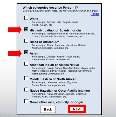 2020 Census Question