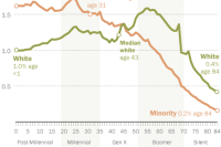 Minorities in U.S. tend to be younger than whites