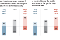 Wide partisan divides over same-sex wedding services and public restroom use by transgender people
