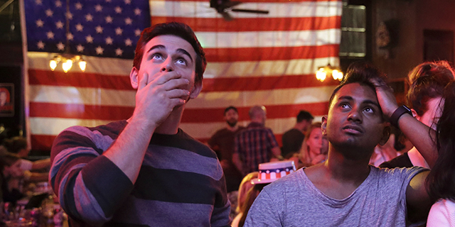 f33f70c7 Supporters of presidential candidate Hillary Clinton watch televised  coverage of the U.S. presidential election at Comet