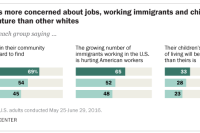 Rural whites more concerned about jobs, working immigrants and children's economic future than other whites