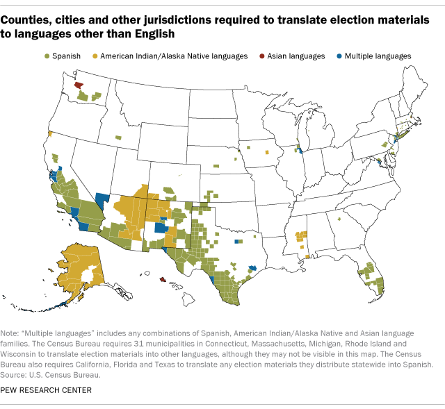 More Voters Will Have Access To Non English Ballots In The Next - Us-elections-2016-live-map
