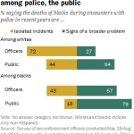 Large racial differences on perceptions of deadly black-police encounters among police, the public
