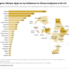 Nigeria, Ethiopia, Egypt are top birthplaces for African immigrants in the U.S.