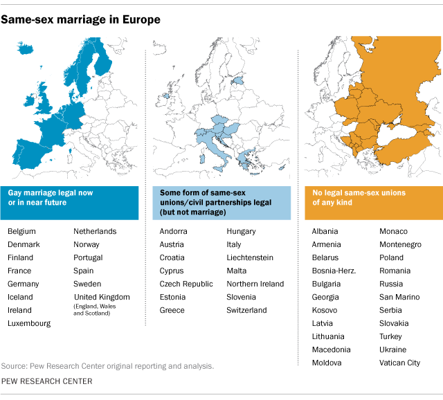 Global Views On Abortion: Where Europe Stands On Gay Marriage And Civil Unions