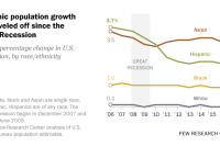 Hispanic population growth has leveled off since the Great Recession