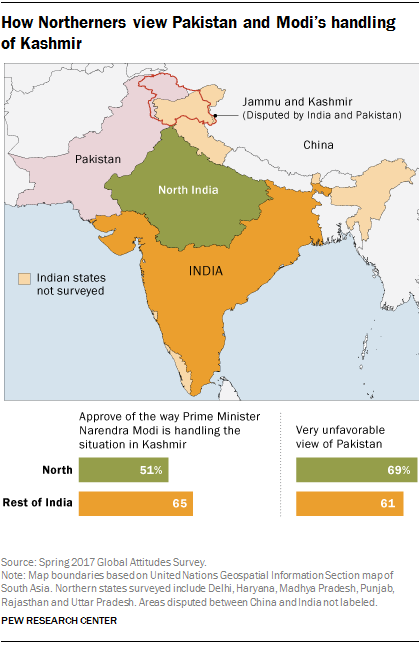 How people in India see stan, 70 years after partition | Pew ... on indian history map, indian nation map, indian asia map,