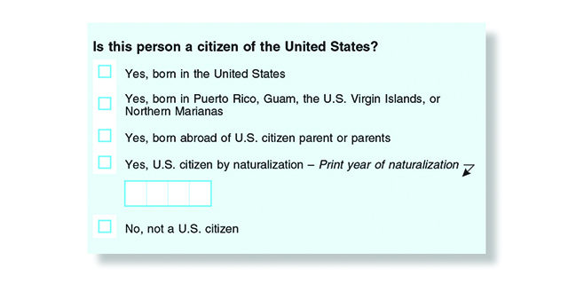 picture regarding Printable United States Citizenship Test identify The citizenship surprise prepared for 2020 census: What toward