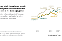 Young adult households match the highest household income on record for their age group