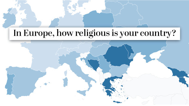Interactive Map Europe.How Do European Countries Differ In Religious Commitment Use Our
