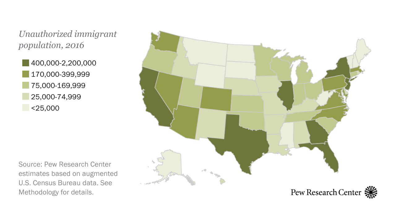 Explore unauthorized immigration by state using our new interactive ...