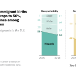 Share of U.S. immigrant births to Hispanics drops to 50%, driven by declines among Mexican women