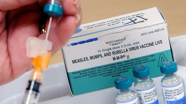 Photo: Measles, Mumps and Rubella Vaccine, Orange County Health Department, Orlando, Florida