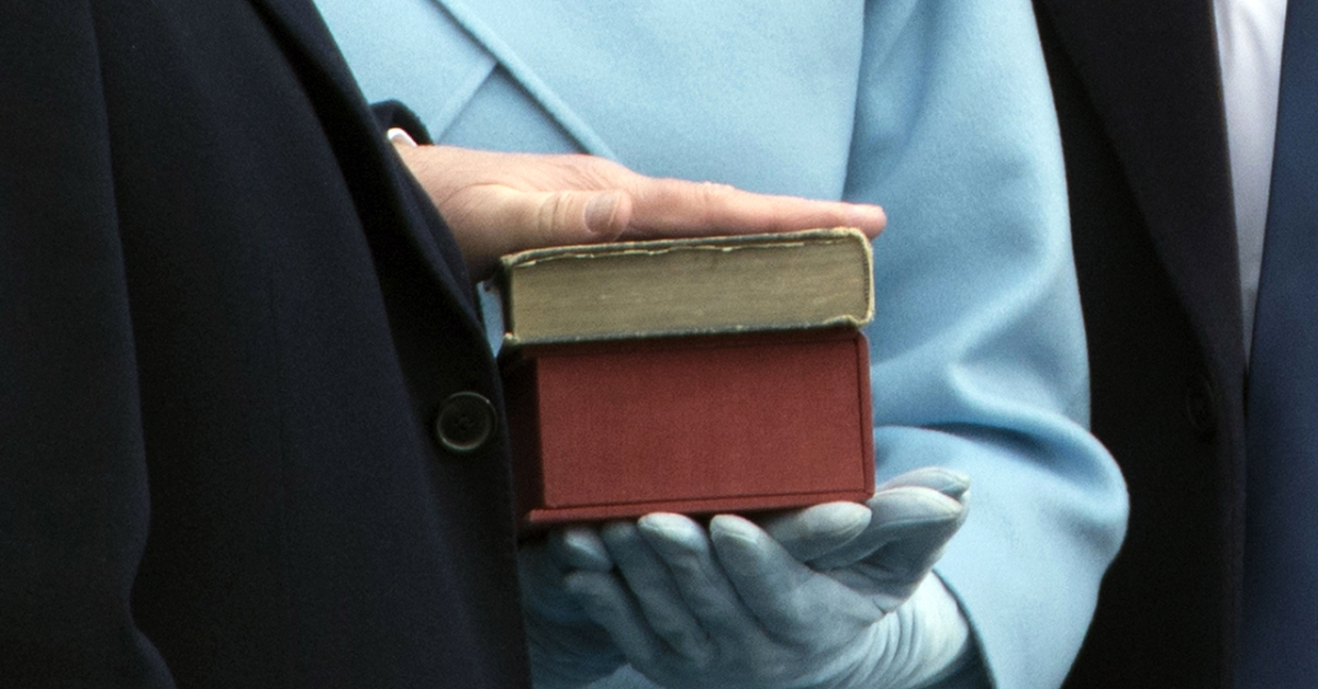 President Donald Trump placed his hand on two Bibles when he took the oath of office in 2017. One of them was the Lincoln Bible that Barack Obama also used as his swearing-in. (Mandel Ngan/AFP via Getty Images)