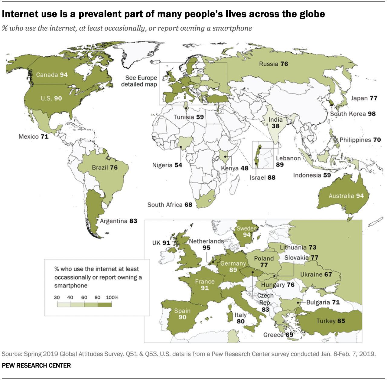 Internet use is a prevalent part of many people's lives across the globe