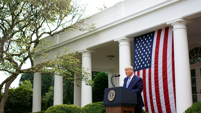 President Donald Trump speaks about COVID-19 testing in the Rose Garden of the White House on Sept. 28, 2020. (Mandel Ngan/AFP via Getty Images)