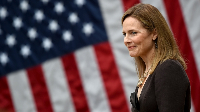 If she is confirmed, Amy Coney Barrett will be the sixth Catholic to have served on the U.S. Supreme Court. (Olivier Douliery/AFP via Getty Images)