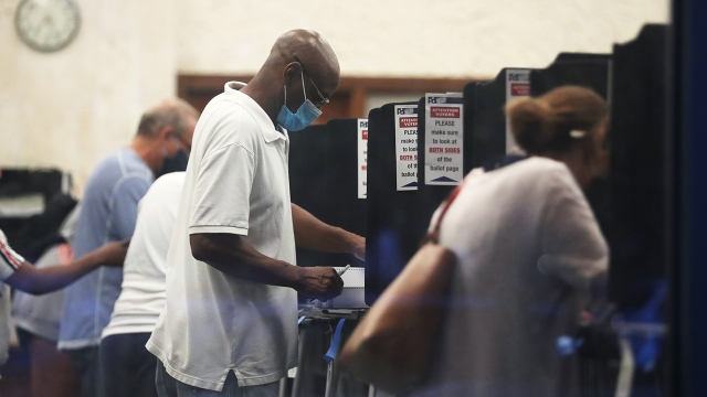 Voters cast their early ballots at the Coral Gables Branch Library precinct on Oct. 19, 2020, in Coral Gables, Florida. (Joe Raedle/Getty Images)