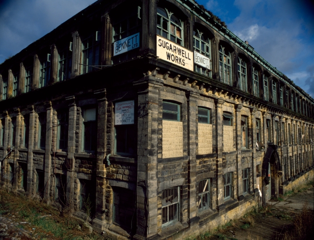 A derelict textile factory in Newcastle. (Photofusion/Crispin Hughes/Universal Images Group via Getty Images)