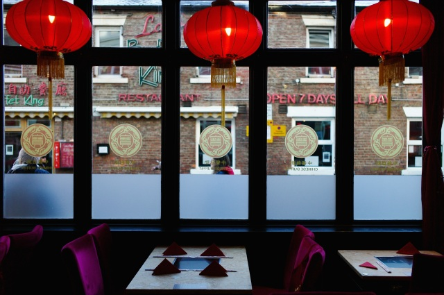 A Chinese restaurant in Newcastle opens for customers in 2017. (Ian Forsyth/Getty Images)