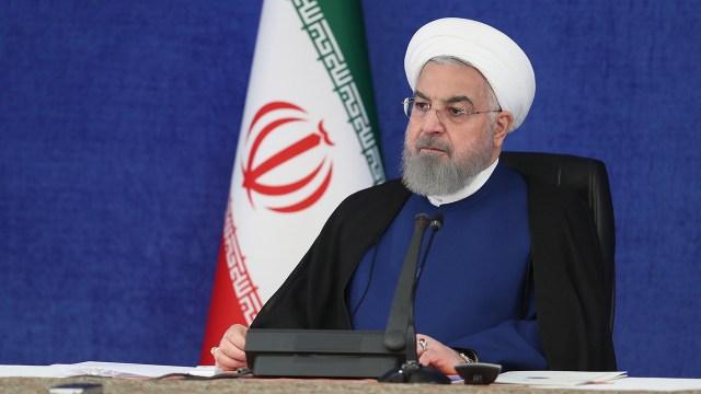 Hassan Rouhani, president of Iran, speaks in Tehran on Nov. 07, 2020. (Anadolu Agency via Getty Images)