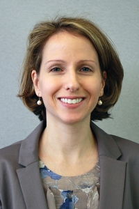 A headshot for Courtney Kennedy, director of survey research