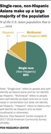 Single-race, non-Hispanic Asians make up a large majority of the population