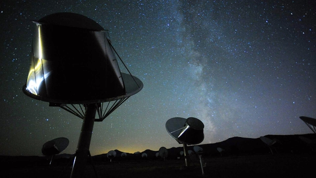 The Alien Telescope Array at the Search for Extraterrestrial Intelligence Institute. (Seth Shostak/SETI Institute)