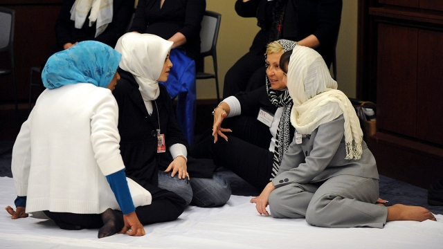 Muslim women gather for Friday prayer in Washington, D.C., in 2010.
