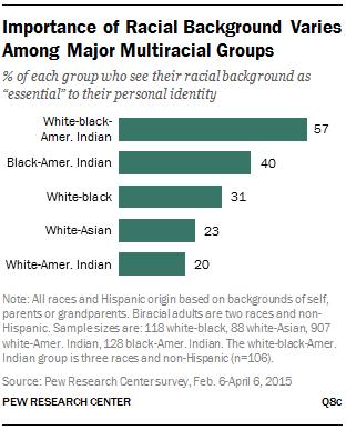 Importance of Racial Background Varies Among Major Multiracial Groups