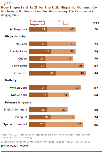 How Important Is It for the U.S. Hispanic Community to Have a National Leader Advancing Its Concerns?