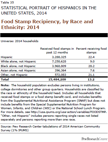 Food Stamp Recipiency, by Race and Ethnicity: 2014